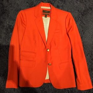 J.Crew Schoolboy Style Bright Orange Blazer